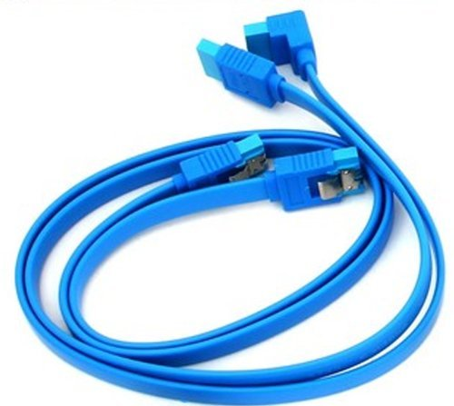 2 x Gigabyte High Quality Original Light Blue SATA 3 6GB/s Cable (46cm)