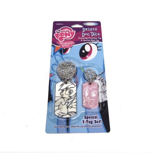 Rainbow Dash and Pinkie Pie My Little Pony Deluxe Dog Tags Special 2-Tag Set by EnterPlay (English Manual)