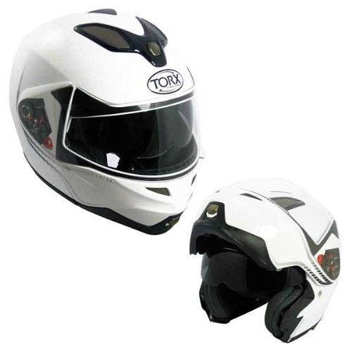 Casque MOTO modulable TORX NEIL Blanc Taille XXL