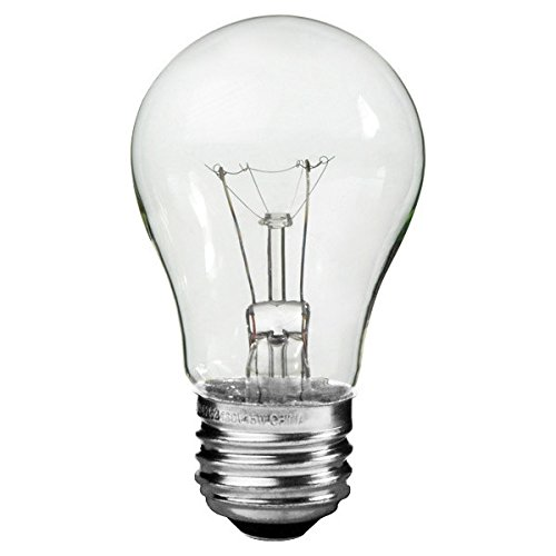 40 Watt A15 Clear Appliance Bulb 1750 Life Hours 400 Lumens 120V Philips 299990 (Philips 40w Appliance Bulb compare prices)
