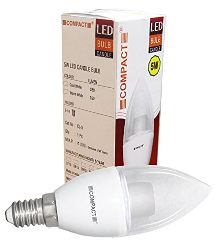 Compact-E14-5W-Candle-LED-Bulb-(Cool-White)