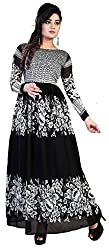 Bhoomi Creation exclusive partywear black Georgette original Gown 1160