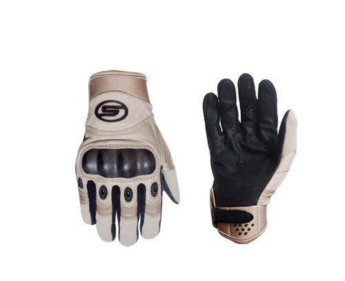 seibertron-gants-de-usine-pilote-cuir-palm-hommes-kaki-et-noire-sports-de-plein-air-full-finger-tact