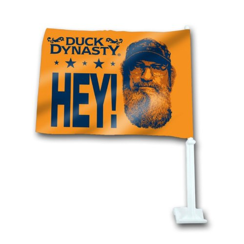 "Duck Dynasty ""HEY!"" Car Flag"