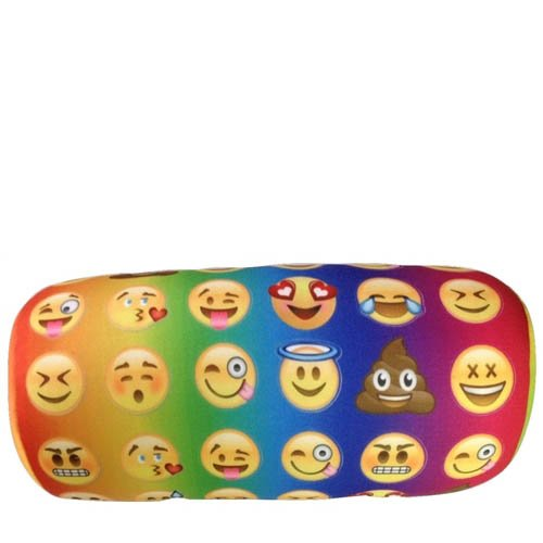 Microbead-Emoji-Bolster-Pillow-Tie-Dye-Colored-Emoji-Neck-Pillow