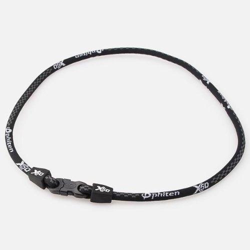 ファイテン(Phiten)チタンネックレス55cm(ラクワネックX50)メンズレディス【ブラック/55(cm)】