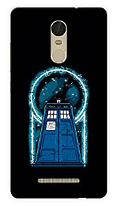 "Humor Gang Doctor Who Tardis Electrifying Printed Designer Mobile Back Cover For ""Xiaomi Redmi Note 3"" (3D, Glossy, Premium Quality Snap On Case)"