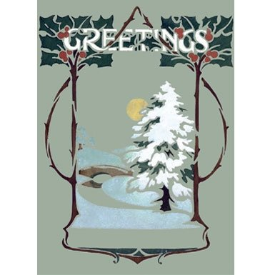 Art Nouveau Pack of 10 Christmas Cards||RF10F