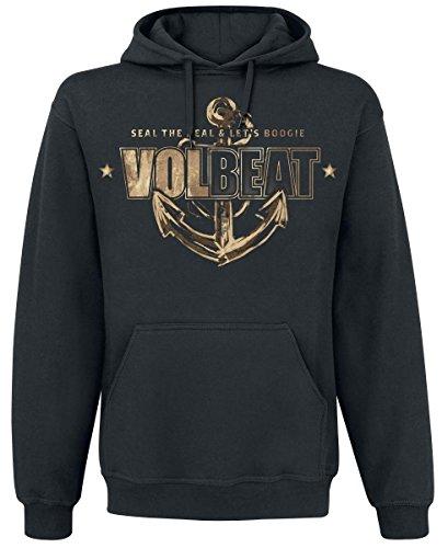 Volbeat Anchor Felpa con cappuccio nero S