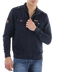 U.S.Polo.Assn. Men's Cotton Sweatshirt (8907259138954_USSS0501_XXL_Navy)