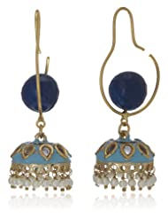 Bansri Drop Earrings For Women (Blue) (E333-6 BLU - J63)