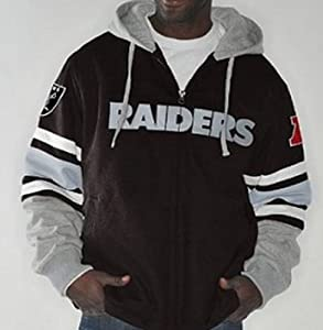 NFL Oakland RAIDERS 1-on-1 Transition Fleece Jacket~ 2X by G 111
