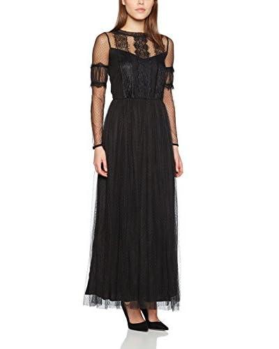 Naf Naf Vestido Largo Negro
