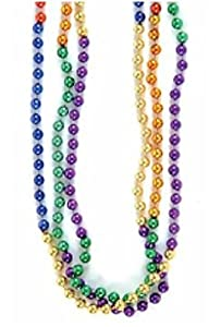 Rainbow Mardi Gras Bead Necklaces (1 dz)