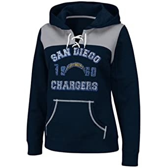NFL Ladies San Diego Chargers Hooded Lace-up Pullover Fleece by NFL Apparel
