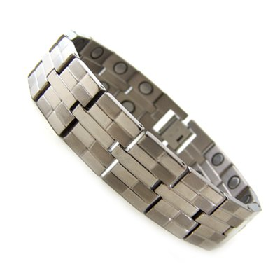 8.5″ Mens Dual Power Magnetic Titanium Golf Bracelet T22 New