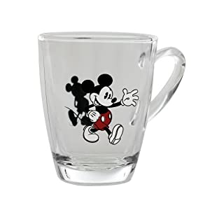 mickey mouse glass