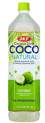 OKF Coco Natural Drink 1.5 Liter (1 Bottle) (Aloe Vera Juice Coconut compare prices)