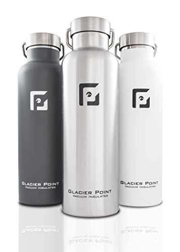 Glacier Point Vacuum Insulated Stainless Steel Water Bottle 25oz (Brushed Stainless) (Water Bottle Insulated compare prices)