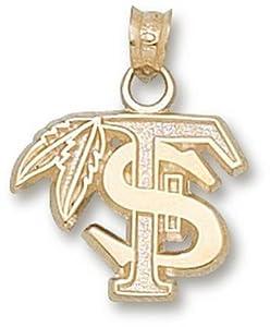 Florida State University FS Feather 1 2 - 14K Gold by Logo Art