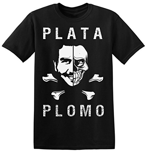 narcos-plata-o-plomo-pirates-flag-design-mens-t-shirt-xx-large