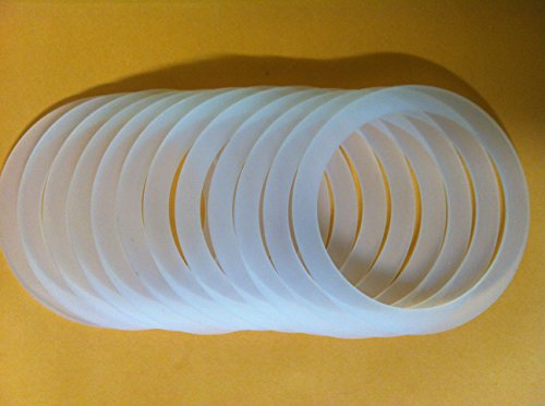 CM Mason, Ball, and Kerr Jar Reusable Wide Mouth Food Grade Silicone Seals (12ct)