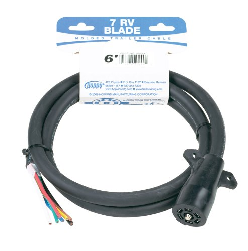 Hopkins 20248 11' 7 Rv Blade Molded Trailer Cable With Cardboard Wrap Package