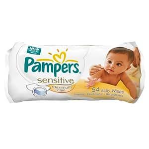 Pampers Feuchte Tücher Sensitive Maximum Care, 12er Pack (12 x 54 Tücher)