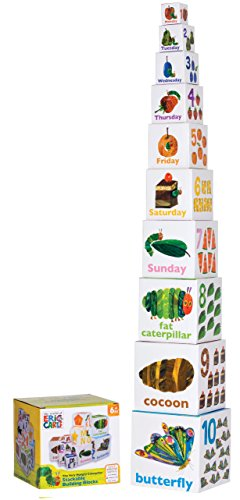 World of Eric Carle, The Very Hungry Caterpillar Stacking/Nesting Blocks by Kids Preferred - 1