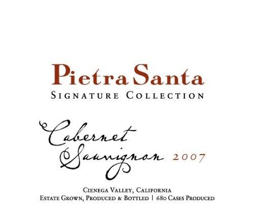 2007 Pietra Santa Signature Collection Cienega Valley Cabernet Sauvignon 750 Ml