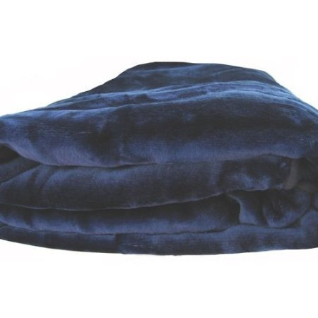 Best Deals! Brand New Queen Size Solid Super Soft Plush Mink Blanket Navy Blue