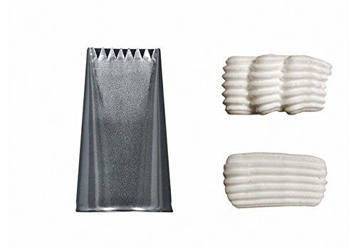 De Buyer 2113.08N Douille à Bûche Plate inox - 6 dents - l. 34 mm