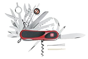 Wenger 16812 Swiss Army EvoGrip S54 Pocket Knife, Red and Black by Wenger