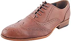 ErreOtto Mens Brown Leather Formal Shoes 8 UK