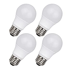 Thinklux LED A15 Appliance & Ceiling Fan Light Bulb, 6W (60W Equal), 3000K (Warm White), Dimmable (Pack of 4) for Ceiling Fans and Appliances