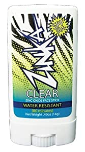 Zinka Clear Zinc Oxide Sunscreen Stick SPF 50 0.49oz (14g)