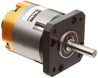 "Parker PV17FE-005 In-Line Planetary Gearhead, Square Flange Face, NEMA, 5:1 Ratio, 55in-lbs Nominal Torque, 104in-lbs Acceleration Torque, 0.25"" Shaft Diameter, 0.984"" Shaft Length, 0.866"" Pilot Diameter, 1.724"" Bolt Circle, 1.909"" Housing Length"
