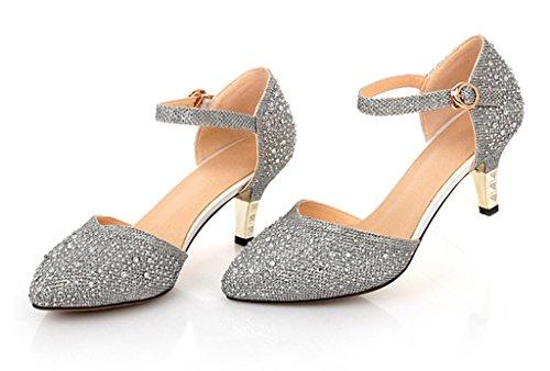 Littleboutique Vintage Mid-heel Metallic D¡¯Osay Pumps Bridesmaid Shoes Evening Dress Heels Wedding Shoes 2