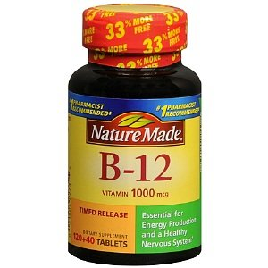 Nature Made Vitamin B-12 1000 mcg Timed Release Value Size, Tablets 160 ea