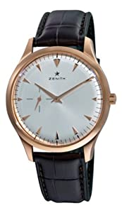 Zenith Men's 18.2010.681/01.c498 Elite Rose gold Silver Sunray Dial Watch from Zen Awakening