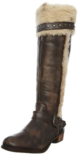 Ravel Women's Hamlet Brown Fur Trimmed Boots