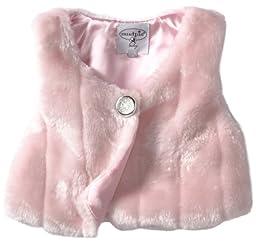 Mud Pie Baby Girls\' Faux Fur Vest, Pink, 2T 3T