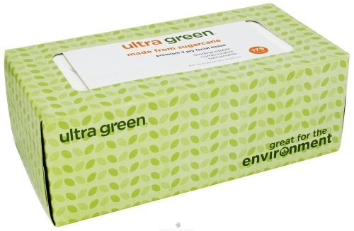 Ultra Green - Premium 2 Ply Facial Tissue - 175 Tissue(s) [Health and Beauty]