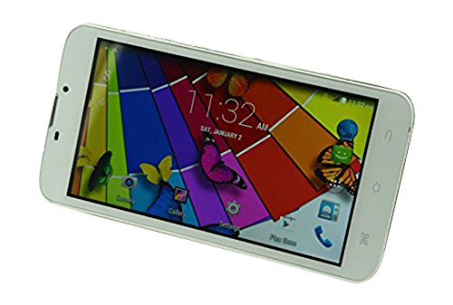 Flytouch MR601-WHT Quad Core 1GB RAM 8GB Hard Drive Dual-Camera 3G Smartphone Tablet with Free Case - 6""