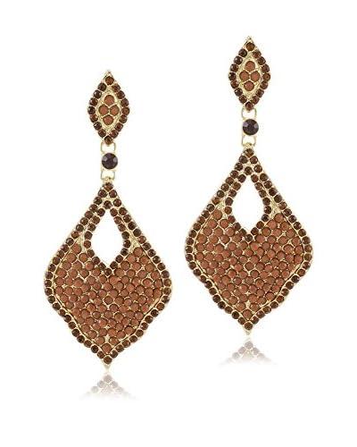 Jardin Amber Pavé Arabesque Earrings