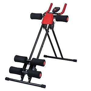 Finether-Banco Abdominal, Fitness (Ejercicos de Cuerpo, Aparato de Musculación,Mayor Seguridad, Capacidad: 150kg) Negro