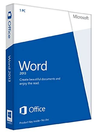 Microsoft Word 2013 Key Card Non-Commercial (1PC/1User)