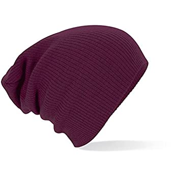 Beechfield - Slouch Beanie one size,Burgundy