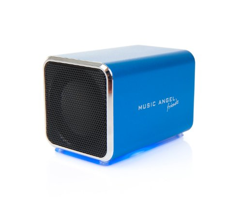 Music Angel Friendz Universal Portable Stereo Rechargeable Speaker for iPhone/iPad/iPod/MP3 Players/PC/MAC - Blue