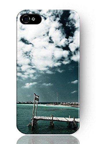 Sprawl Original New Print Hard Skin Case Cover Shell For Mobilephone Apple Iphone 4 4S, Interesting Fashion Design With Sea Bridge
